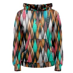 Background Pattern Abstract Triangle Women s Pullover Hoodie