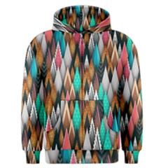 Background Pattern Abstract Triangle Men s Zipper Hoodie