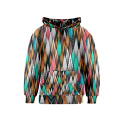 Background Pattern Abstract Triangle Kids  Zipper Hoodie