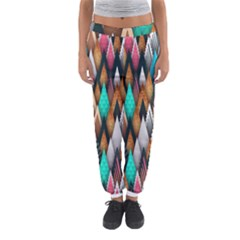 Background Pattern Abstract Triangle Women s Jogger Sweatpants