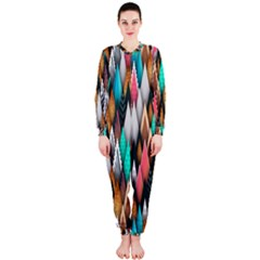 Background Pattern Abstract Triangle OnePiece Jumpsuit (Ladies)