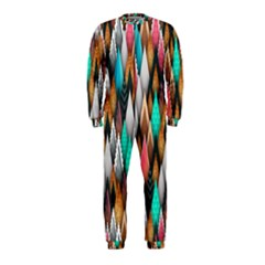 Background Pattern Abstract Triangle OnePiece Jumpsuit (Kids)