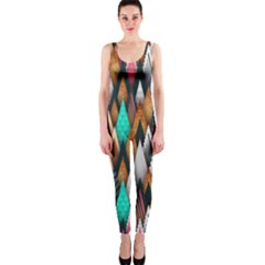 Background Pattern Abstract Triangle OnePiece Catsuit