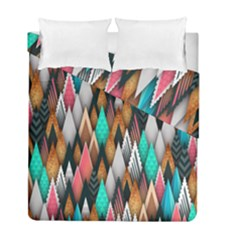 Background Pattern Abstract Triangle Duvet Cover Double Side (Full/ Double Size)