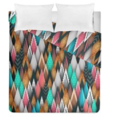 Background Pattern Abstract Triangle Duvet Cover Double Side (Queen Size)