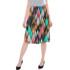 Background Pattern Abstract Triangle Midi Beach Skirt
