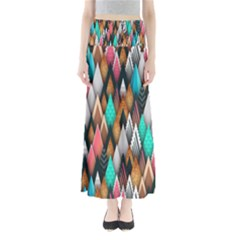 Background Pattern Abstract Triangle Maxi Skirts