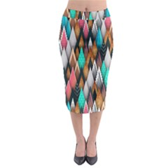 Background Pattern Abstract Triangle Midi Pencil Skirt