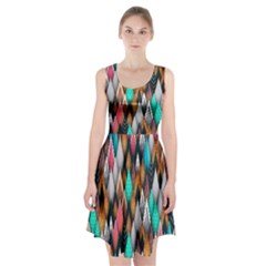 Background Pattern Abstract Triangle Racerback Midi Dress