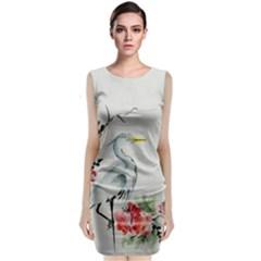 Background Scrapbook Paper Asian Sleeveless Velvet Midi Dress