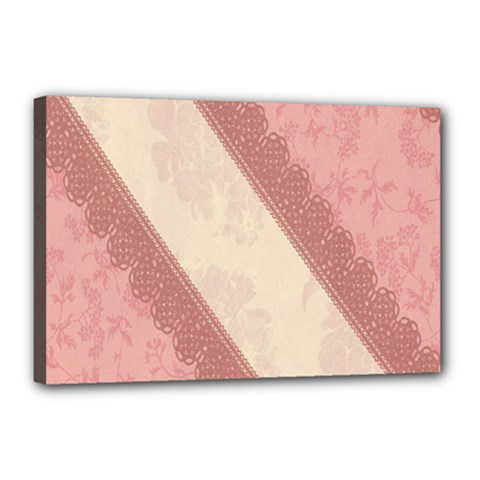 Background Pink Great Floral Design Canvas 18  x 12