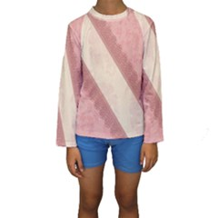 Background Pink Great Floral Design Kids  Long Sleeve Swimwear