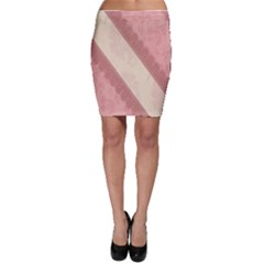 Background Pink Great Floral Design Bodycon Skirt