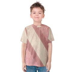 Background Pink Great Floral Design Kids  Cotton Tee