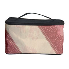 Background Pink Great Floral Design Cosmetic Storage Case
