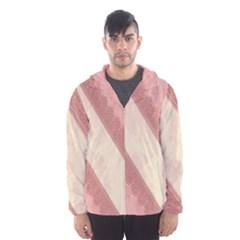 Background Pink Great Floral Design Hooded Wind Breaker (Men)