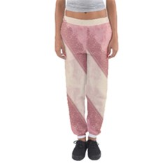 Background Pink Great Floral Design Women s Jogger Sweatpants