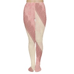 Background Pink Great Floral Design Women s Tights
