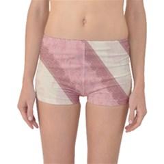 Background Pink Great Floral Design Boyleg Bikini Bottoms