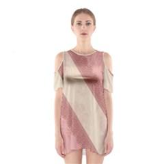 Background Pink Great Floral Design Cutout Shoulder Dress