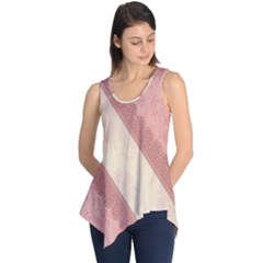 Background Pink Great Floral Design Sleeveless Tunic