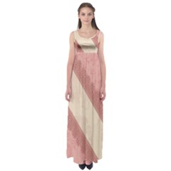 Background Pink Great Floral Design Empire Waist Maxi Dress