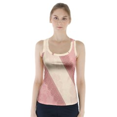 Background Pink Great Floral Design Racer Back Sports Top