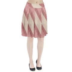 Background Pink Great Floral Design Pleated Skirt