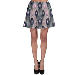 Background Abstract Pattern Grey Skater Skirt