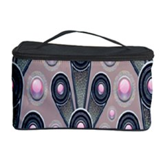 Background Abstract Pattern Grey Cosmetic Storage Case
