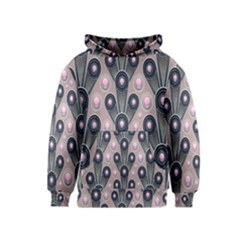 Background Abstract Pattern Grey Kids  Pullover Hoodie