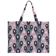Background Abstract Pattern Grey Large Tote Bag