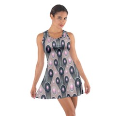 Background Abstract Pattern Grey Cotton Racerback Dress