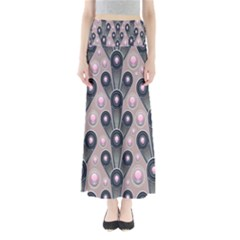 Background Abstract Pattern Grey Maxi Skirts