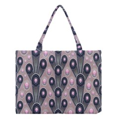 Background Abstract Pattern Grey Medium Tote Bag