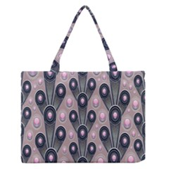 Background Abstract Pattern Grey Medium Zipper Tote Bag