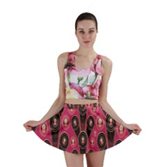 Background Abstract Pattern Mini Skirt