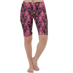 Background Abstract Pattern Cropped Leggings