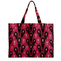 Background Abstract Pattern Zipper Mini Tote Bag
