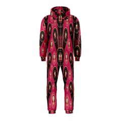 Background Abstract Pattern Hooded Jumpsuit (Kids)
