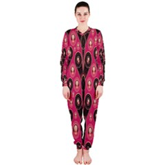 Background Abstract Pattern OnePiece Jumpsuit (Ladies)