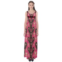 Background Abstract Pattern Empire Waist Maxi Dress