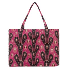 Background Abstract Pattern Medium Zipper Tote Bag