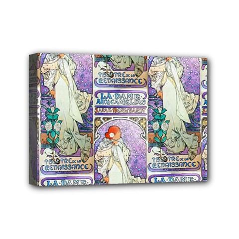 Alfons Mucha 1896 La Dame Aux Cam¨|lias Mini Canvas 7  x 5