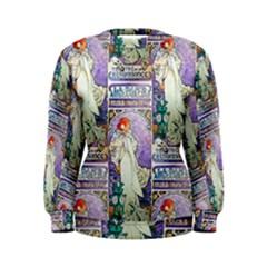 Alfons Mucha 1896 La Dame Aux Cam¨|lias Women s Sweatshirt