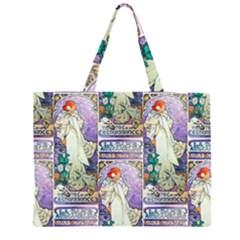 Alfons Mucha 1896 La Dame Aux Cam¨|lias Large Tote Bag