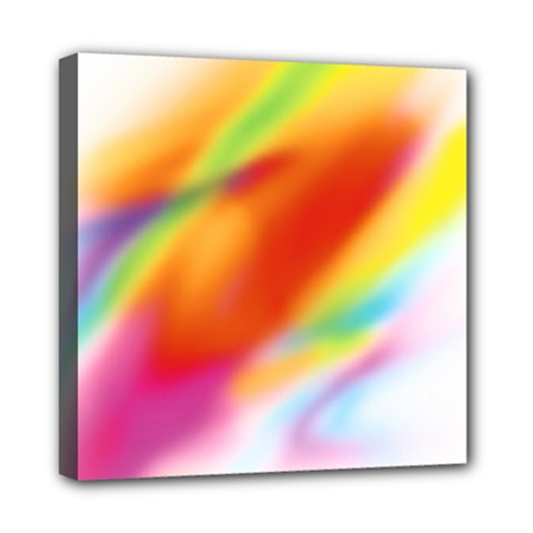 Blur Color Colorful Background Mini Canvas 8  x 8