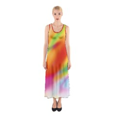 Blur Color Colorful Background Sleeveless Maxi Dress