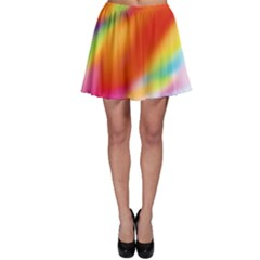 Blur Color Colorful Background Skater Skirt