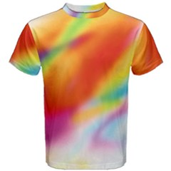Blur Color Colorful Background Men s Cotton Tee